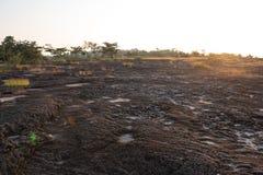 Nascer do sol no parque nacional de Pha Taem, Khong Chiam, Ubon Ratchathani, Tailândia fotos de stock royalty free