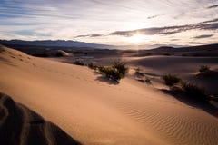 Nascer do sol no parque nacional de Vale da Morte Fotografia de Stock