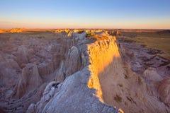 Nascer do sol no parque nacional do ermo imagens de stock