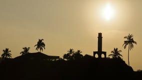 Nascer do sol no porto de Matara em Sri Lanka fotografia de stock
