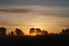 Nascer do sol no príncipe Edward Island imagem de stock