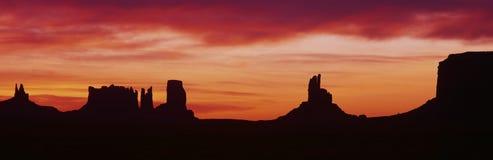 Nascer do sol no vale do monumento, Fotografia de Stock