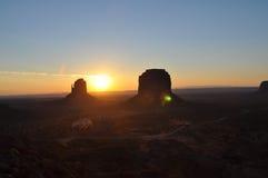 Nascer do sol no vale do monumento Foto de Stock Royalty Free