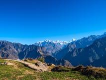 Nascer do sol nos Himalayas fotos de stock royalty free