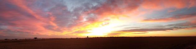 Nascer do sol ocidental de Kansas imagens de stock royalty free