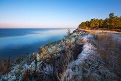 Nascer do sol do outono no rio Ob Sibéria, Rússia Imagens de Stock Royalty Free
