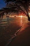Nascer do sol pacífico na praia de Lanikai em Havaí Fotos de Stock Royalty Free