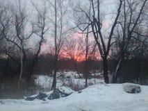 Nascer do sol perto de minha casa fotografia de stock royalty free