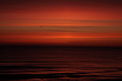 Nascer do sol pintado laranja Foto de Stock Royalty Free