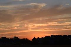 Nascer do sol/por do sol fotografia de stock