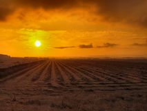 Nascer do sol rural Foto de Stock Royalty Free