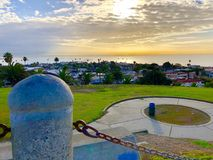 Nascer do sol San Pedro California Imagens de Stock Royalty Free