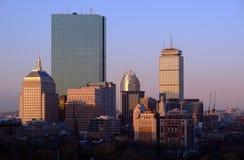 Nascer do sol sobre Boston imagem de stock royalty free