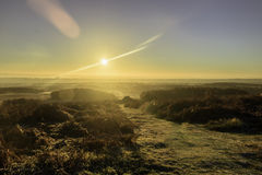 Nascer do sol sobre Bradgate Foto de Stock Royalty Free