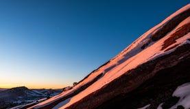 Nascer do sol sobre Denver, Colorado, EUA foto de stock