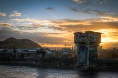 Nascer do sol sobre Edimburgo Fotos de Stock Royalty Free