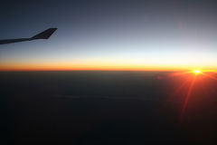 Nascer do sol sobre Europa Fotografia de Stock Royalty Free