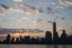 Nascer do sol sobre Manhattan Fotografia de Stock Royalty Free