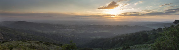 Nascer do sol sobre montanhas do Saddleback Imagens de Stock
