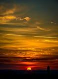 Nascer do sol sobre Nuremberg Fotos de Stock Royalty Free
