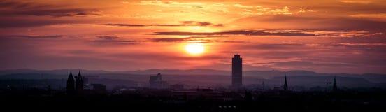 Nascer do sol sobre Nuremberg Imagens de Stock Royalty Free