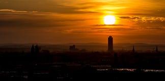 Nascer do sol sobre Nuremberg Fotos de Stock