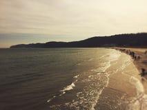 Nascer do sol sobre o mar Foto de Stock