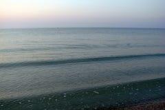 Nascer do sol sobre o mar de Azov Imagem de Stock