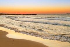 Nascer do sol sobre o Mar Egeu em Crete Fotografia de Stock