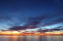 Nascer do sol sobre o mar Mediterrâneo Imagem de Stock