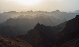 Nascer do sol sobre o Mar Vermelho Fotos de Stock Royalty Free