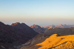 Nascer do sol sobre o Mar Vermelho Fotos de Stock
