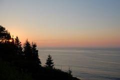 Nascer do sol sobre o Oceano Atlântico Foto de Stock