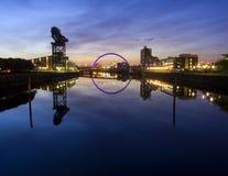 Nascer do sol sobre o rio Clyde foto de stock