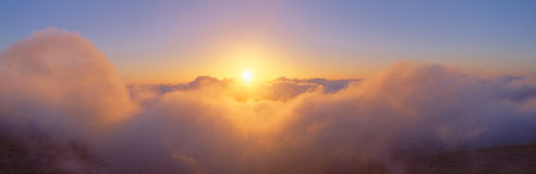 Nascer do sol sobre o vulcão de Haleakala Fotografia de Stock