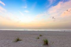 Nascer do sol sobre Oceano Atlântico em florida sul fotografia de stock royalty free