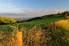 Nascer do sol sobre os prados Foto de Stock