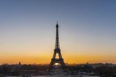 Nascer do sol sobre Paris Imagem de Stock