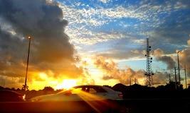 Nascer do sol surpreendente Imagens de Stock