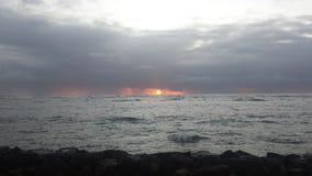 Nascer do sol tormentoso Foto de Stock Royalty Free