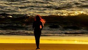 Nascer do sol vermelho do cabelo Fotos de Stock