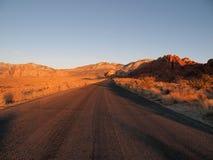 Nascer do sol vermelho Nevada da rocha Imagem de Stock