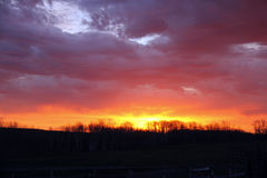 Nascer do sol vibrante da pradaria Imagens de Stock