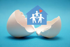 Nascimento da família nova. Imagens de Stock