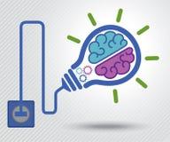 Nascimento da ideia Fundo do conceito Imagens de Stock
