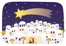 Nascimento de Jesus em Bethlehem ilustração royalty free