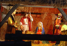 Nascimento do Jesus Cristo Fotografia de Stock
