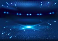 Nascita della galassia - fondo astratto di vettore Immagini Stock