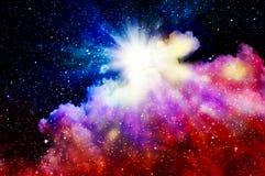 Nascita di nuova nebulosa illustrazione di stock