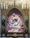 Nascita domestica dell'altare di Gesù Fotografia Stock